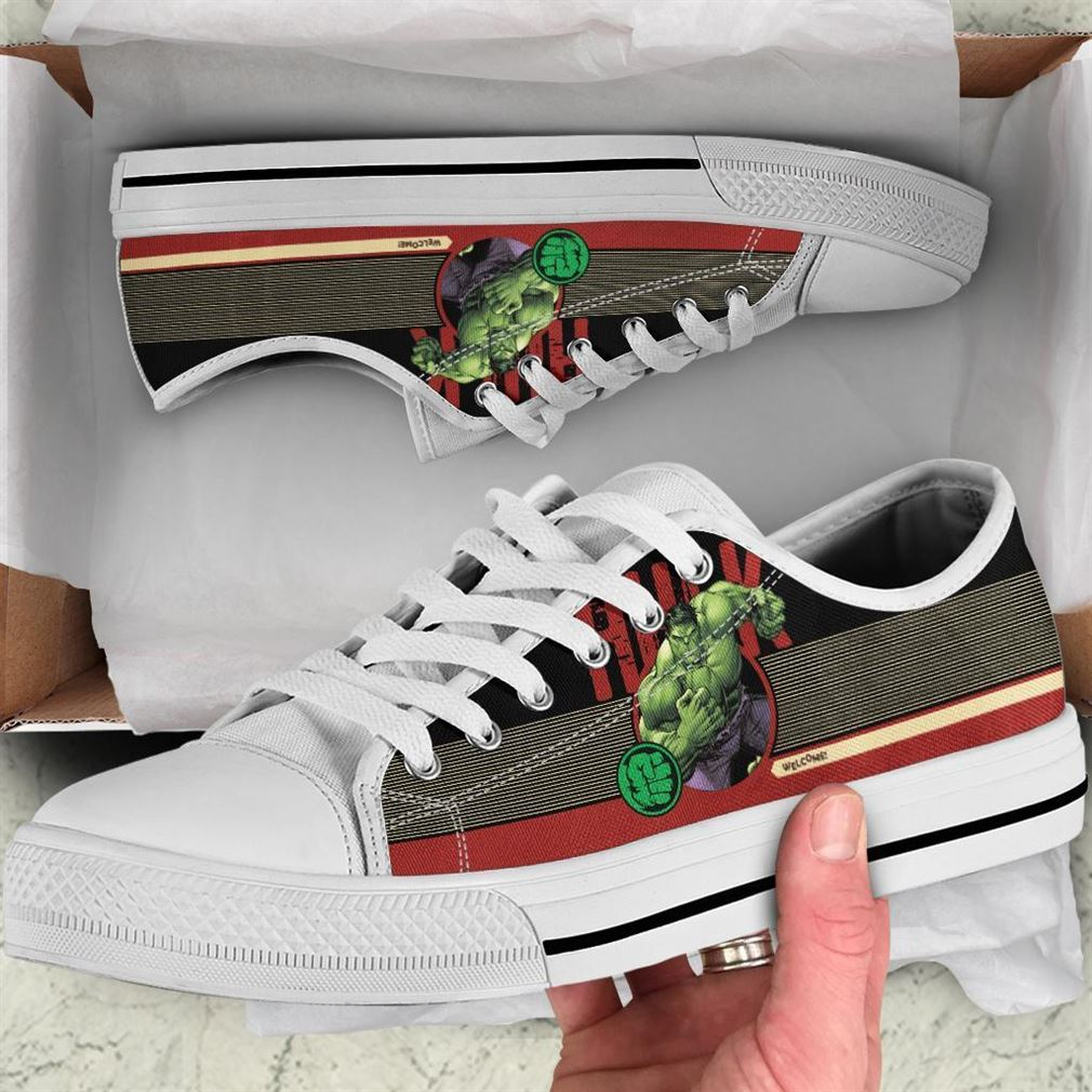 Hulk Character Low Top Vans Shoes