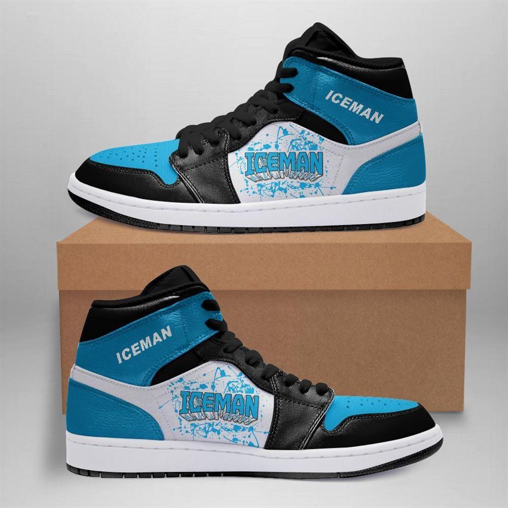 Iceman Marvel Air Jordan Sneaker Boots Shoes