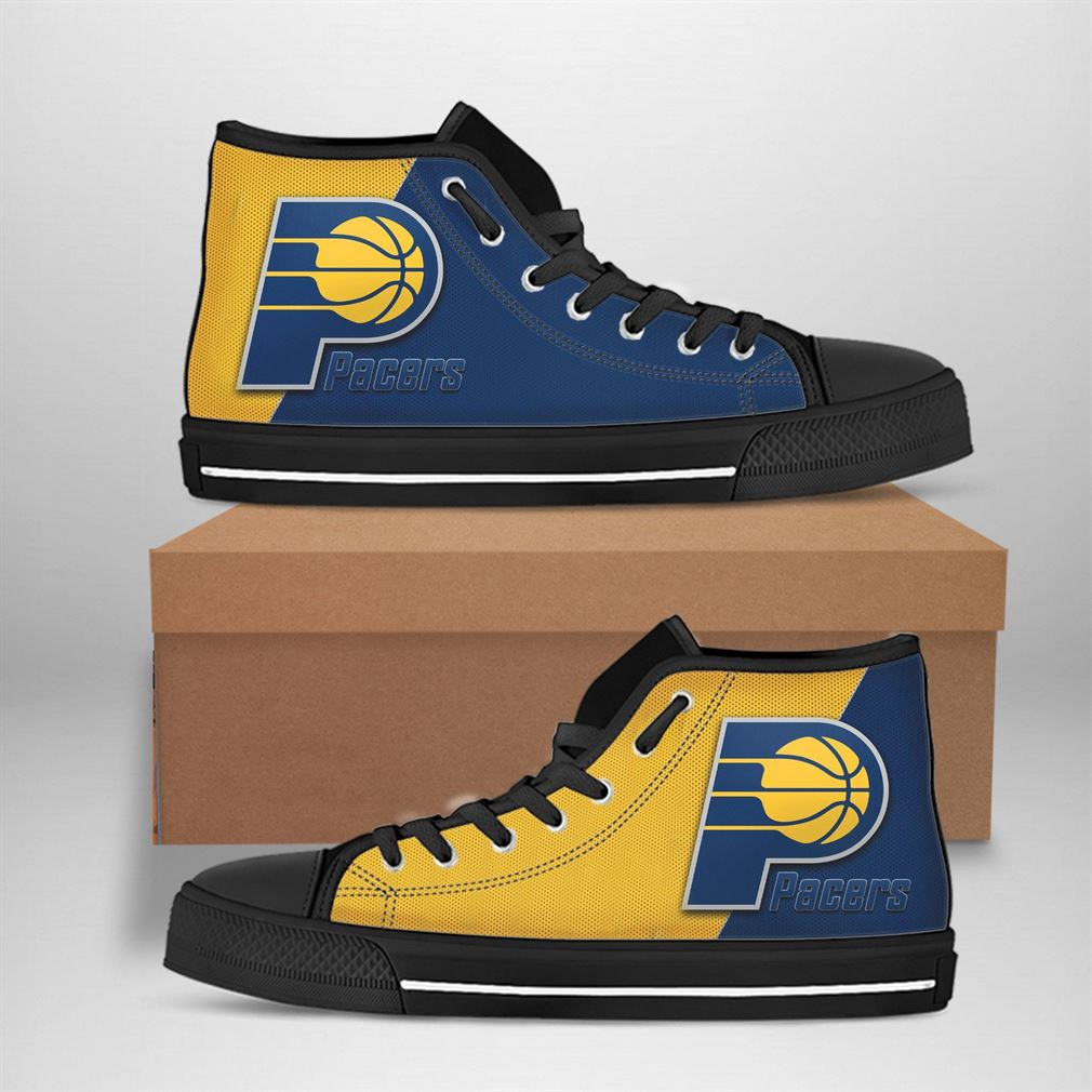 Indiana Pacers Nba Basketball High Top Vans Shoes