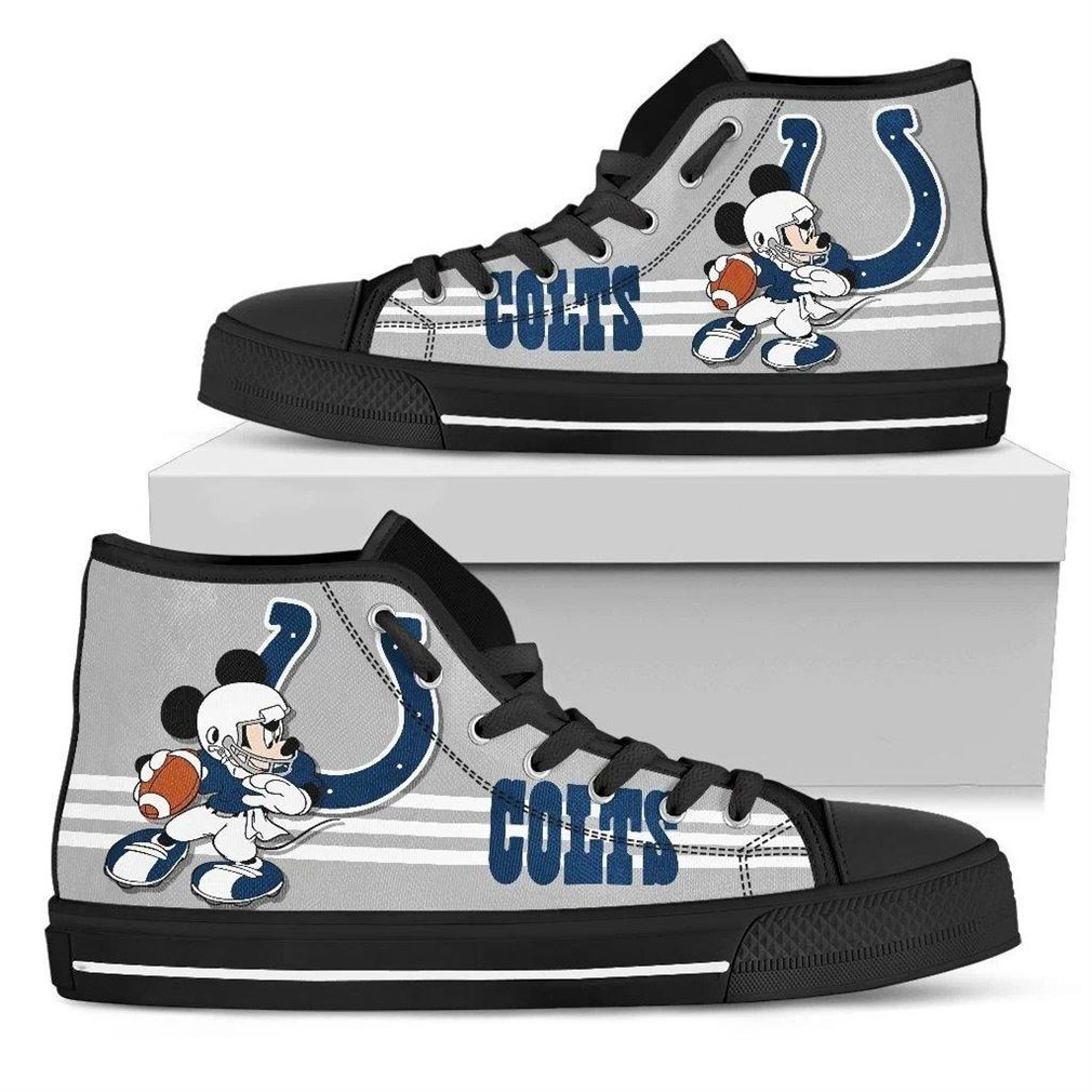Indianapolis Colts Nfl Football High Top Vans Shoes