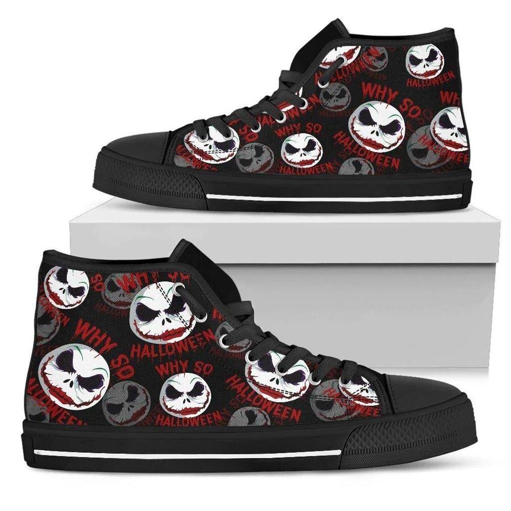 Jack Joker Face High Top Vans Shoes