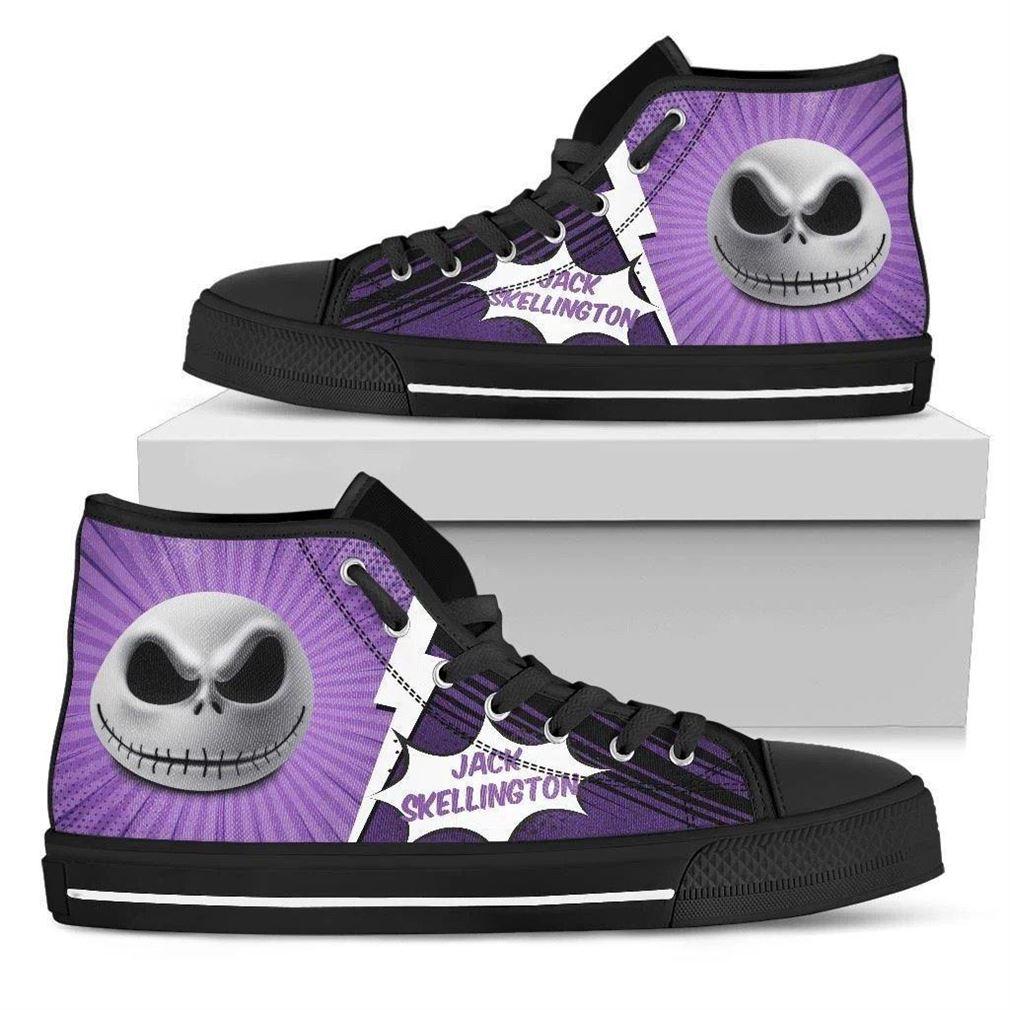Jack Skellington High Top Vans Shoes