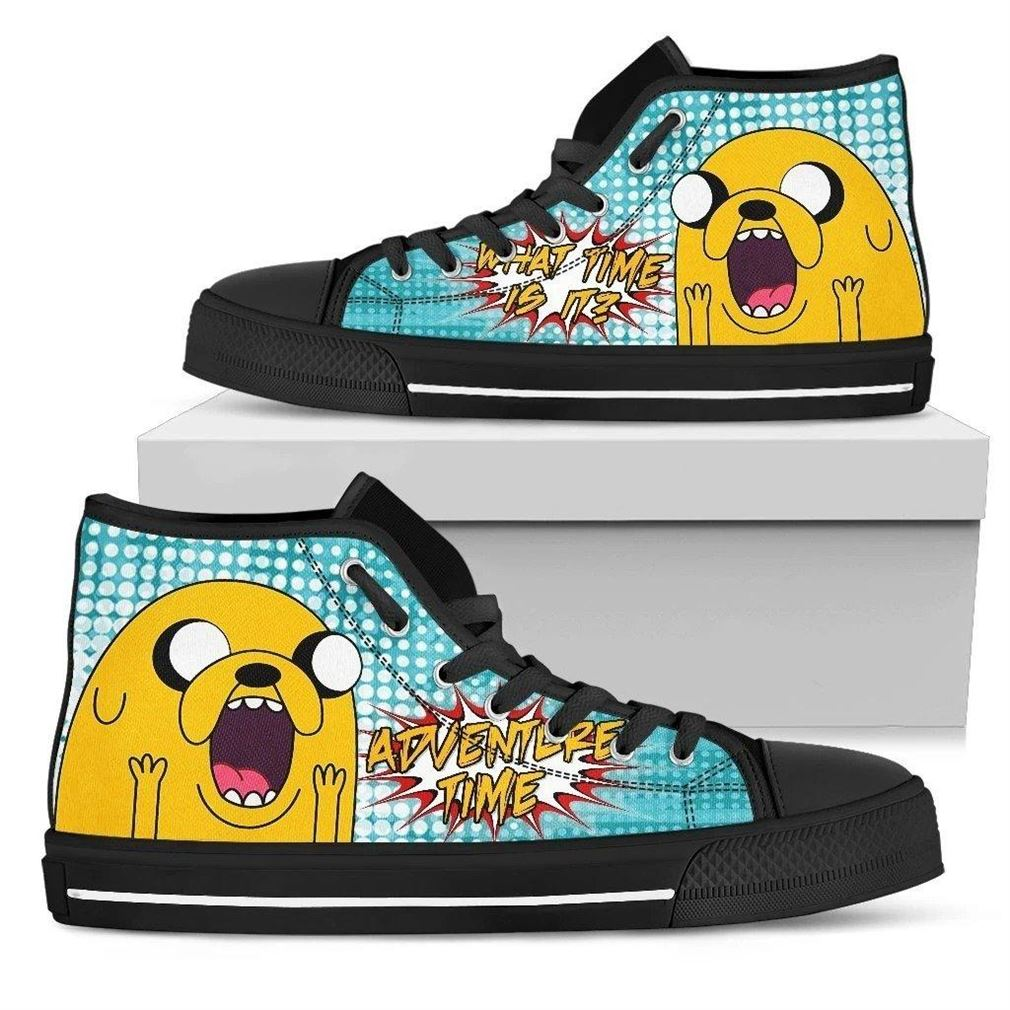 Jake The Dog High Top Vans Shoes