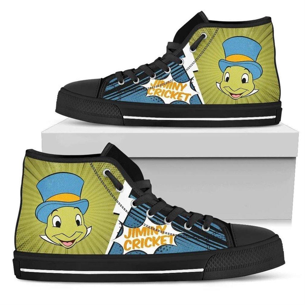 Jiminy Cricket High Top Vans Shoes