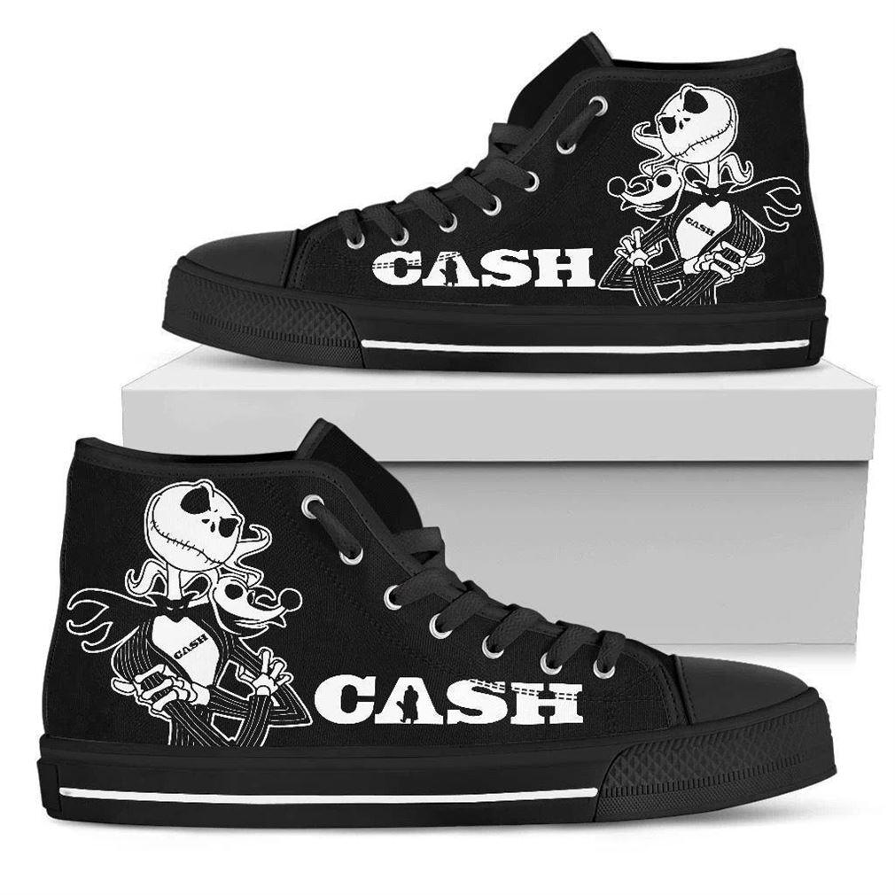 Johnny Cash High Top Vans Shoes
