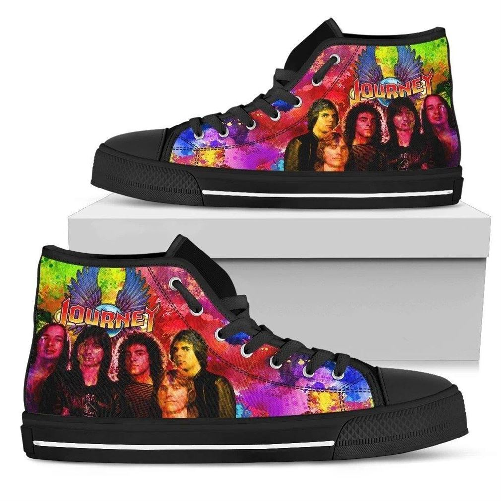 Journey Band Rock Band High Top Vans Shoes