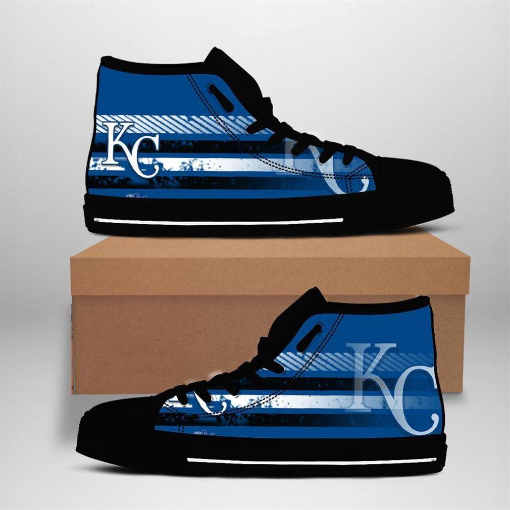 Kansas City Royals Mlb Baseball High Top Vans Shoes
