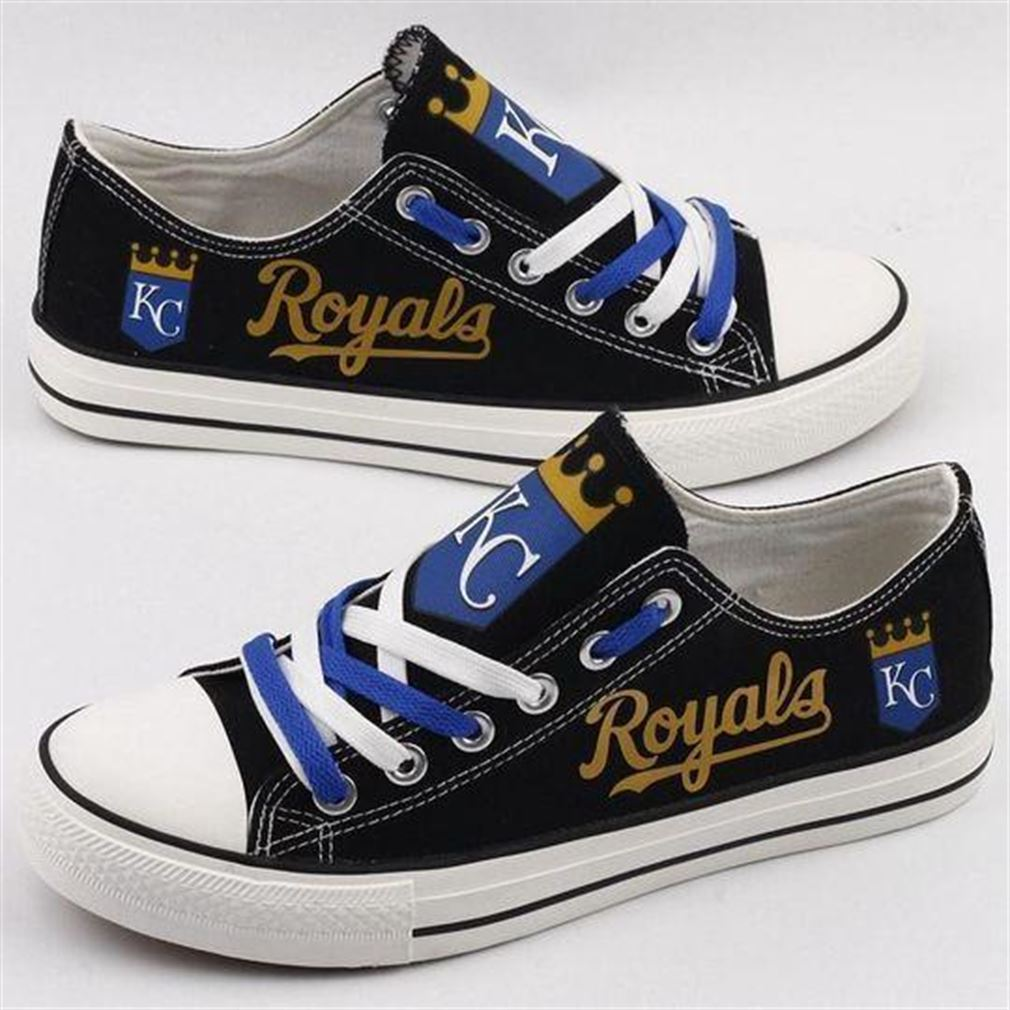 Kansas City Royals Mlb Baseball Low Top Vans Shoes