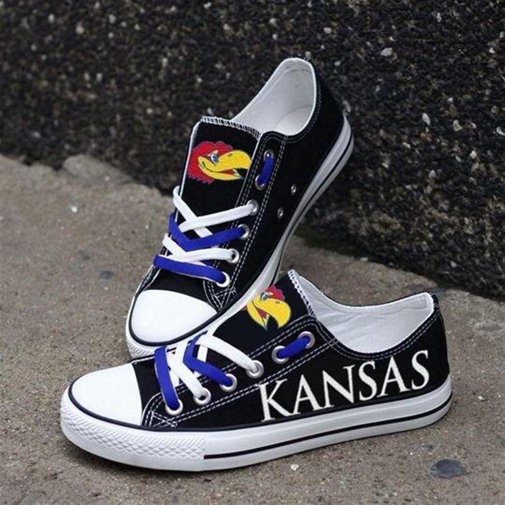 Kansas Jayhawks Nba Basketball Low Top Vans Shoes