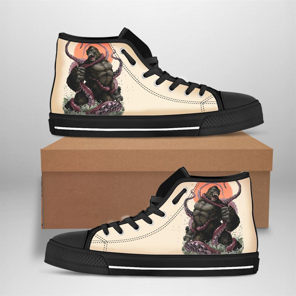 King Kong Best Movie Character High Top Vans Shoes