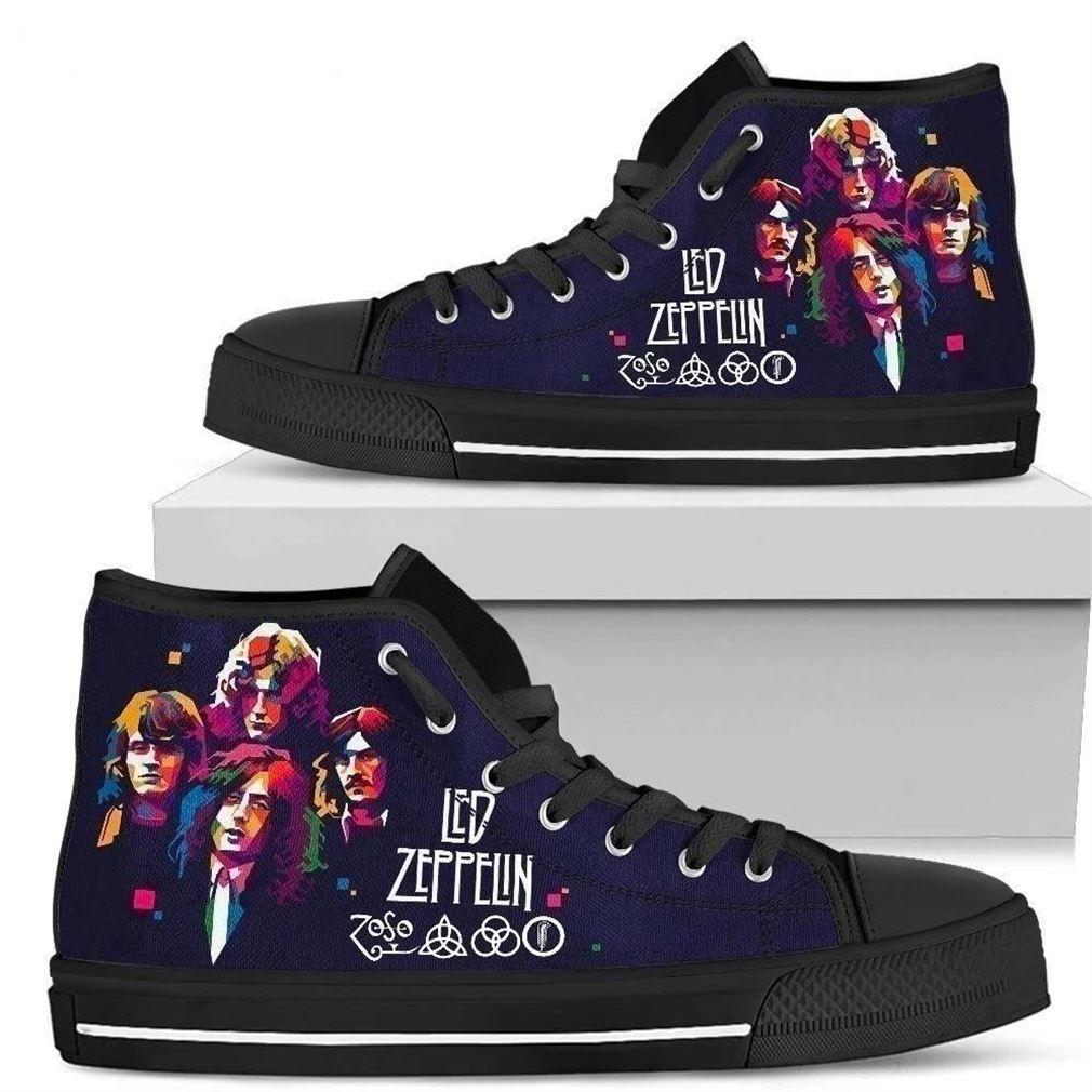 Led Zeppelin Rock Band High Top Vans Shoes