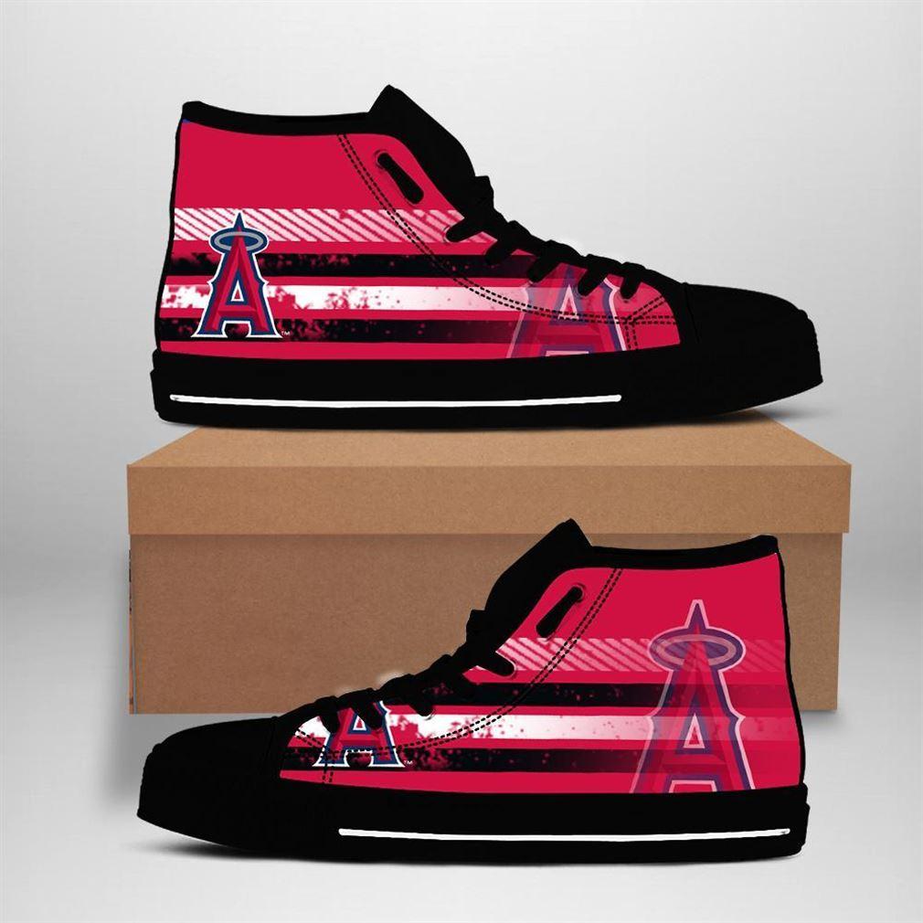 Los Angeles Angels Mlb Baseball High Top Vans Shoes