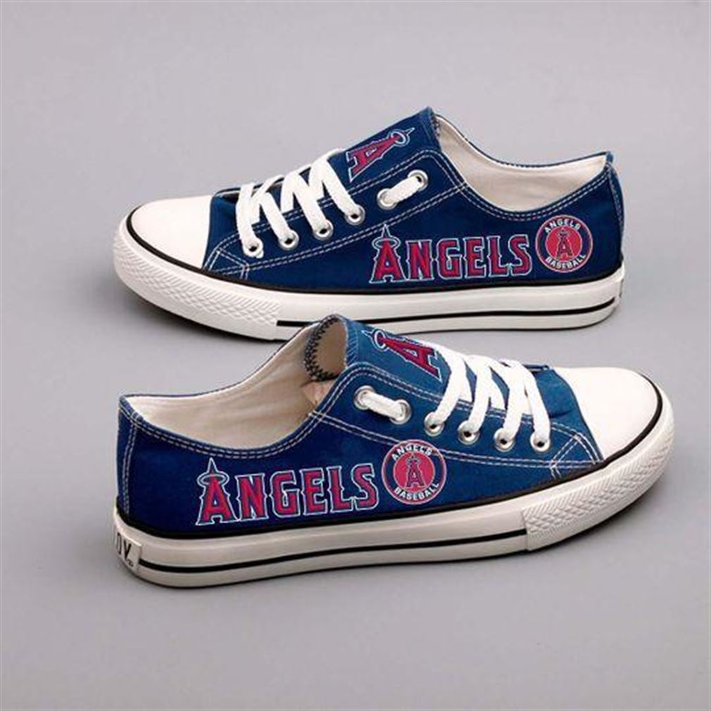 Los Angeles Angels Mlb Baseball Low Top Vans Shoes