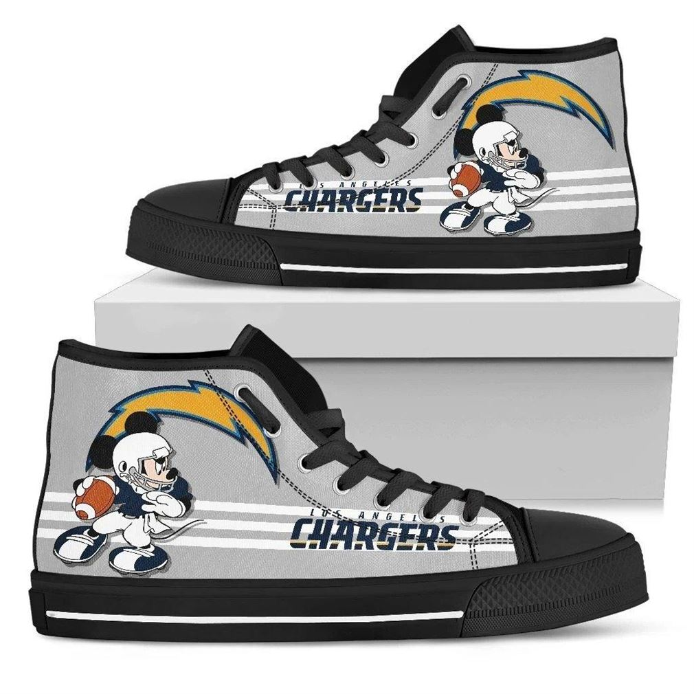 Los Angeles Chargers Nfl Football High Top Vans Shoes