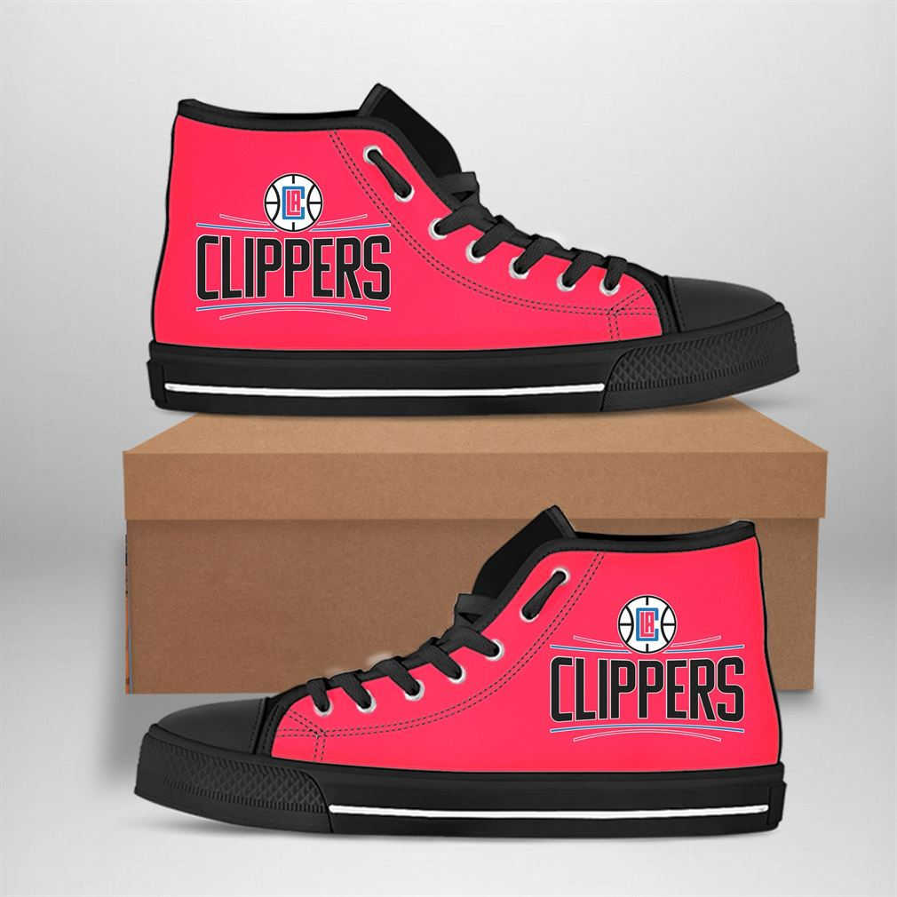 Los Angeles Clippers Nba Basketball High Top Vans Shoes