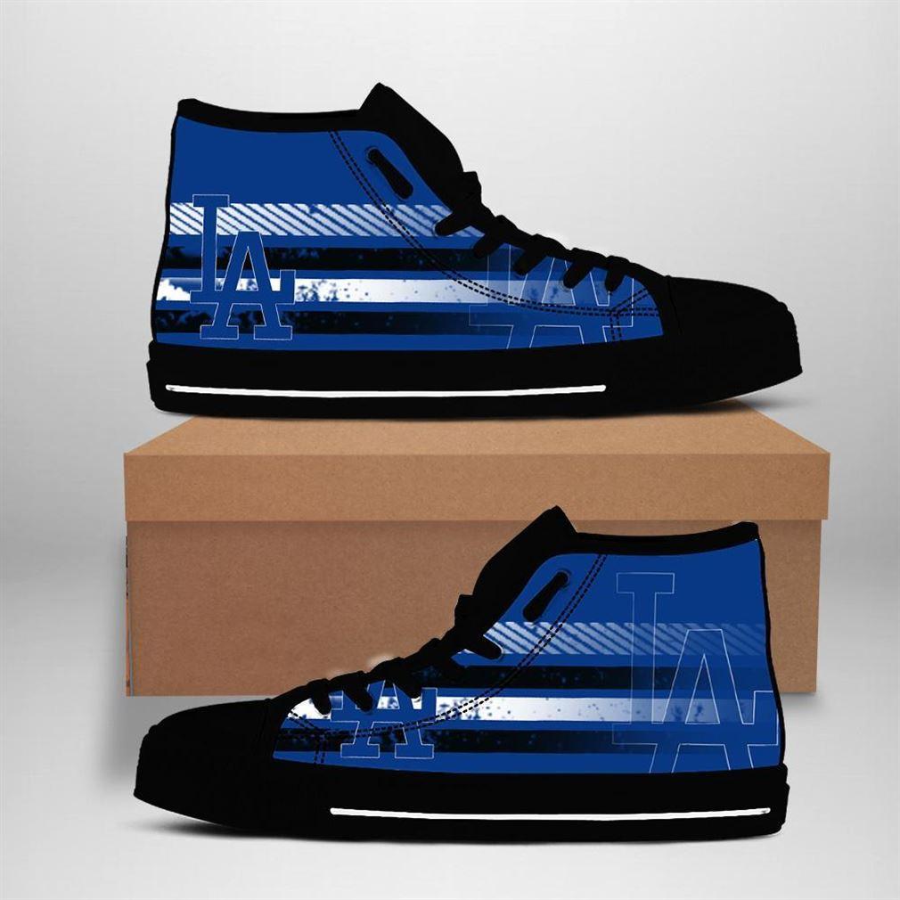 Los Angeles Dodgers Mlb Baseball High Top Vans Shoes