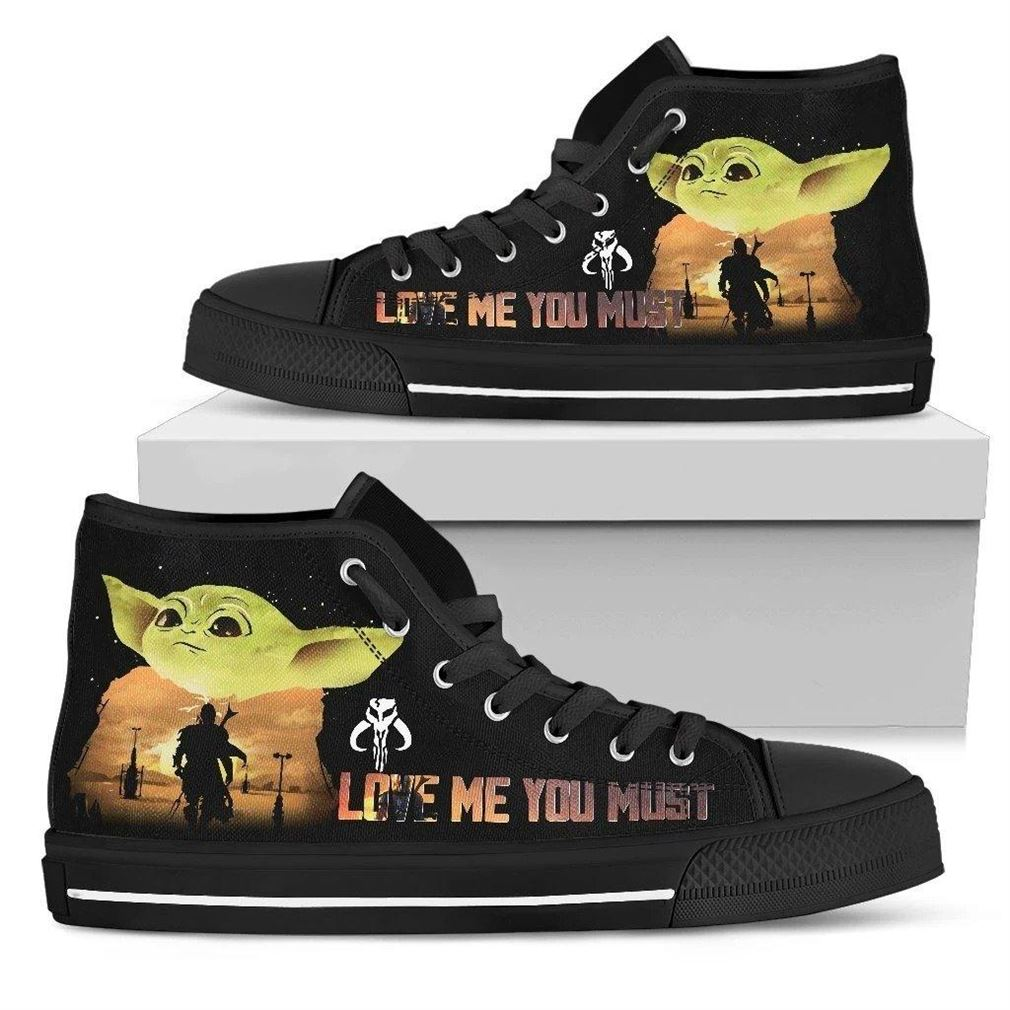 Love Me You Must High Top Vans Shoes