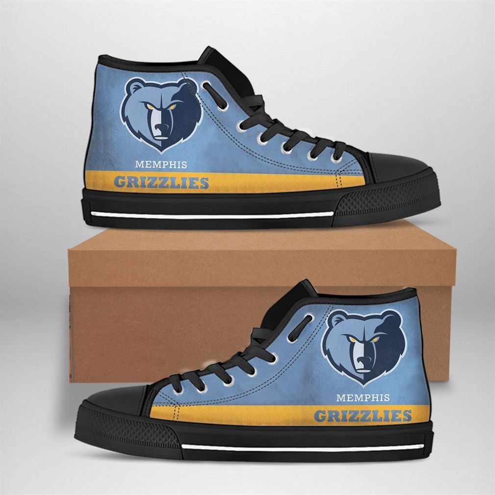 Memphis Grizzlies Nba Basketball High Top Vans Shoes