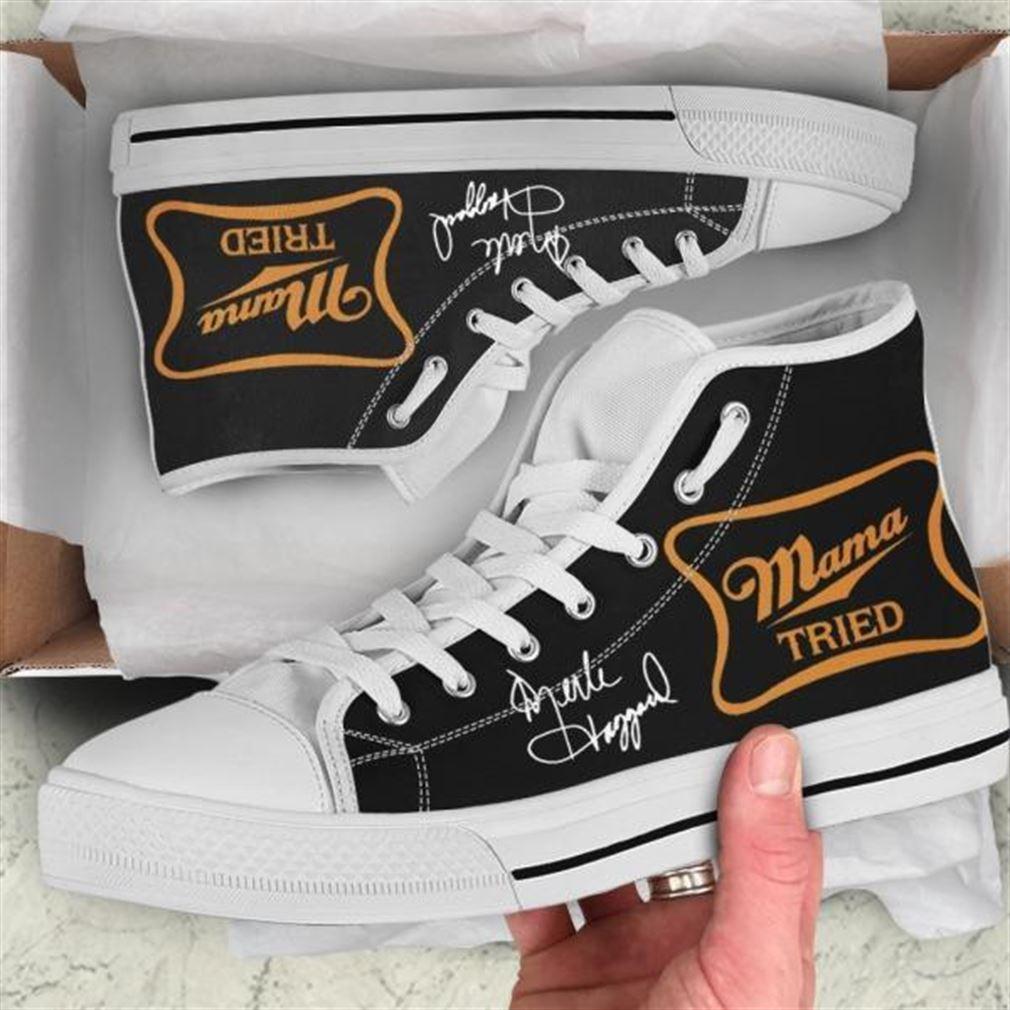 Merle Haggard Mama Tried High Top Vans Shoes Wqbhq