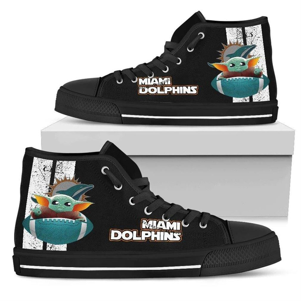 Miami Dolphins High Top Vans Shoes