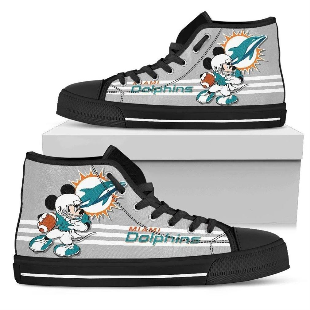 Miami Dolphins Nfl Football High Top Vans Shoes