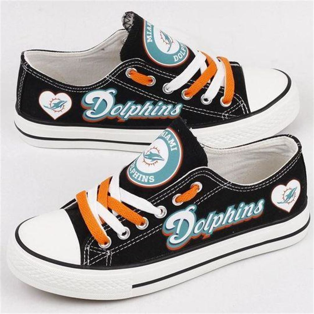 Miami Dolphins Nfl Football Low Top Vans Shoes
