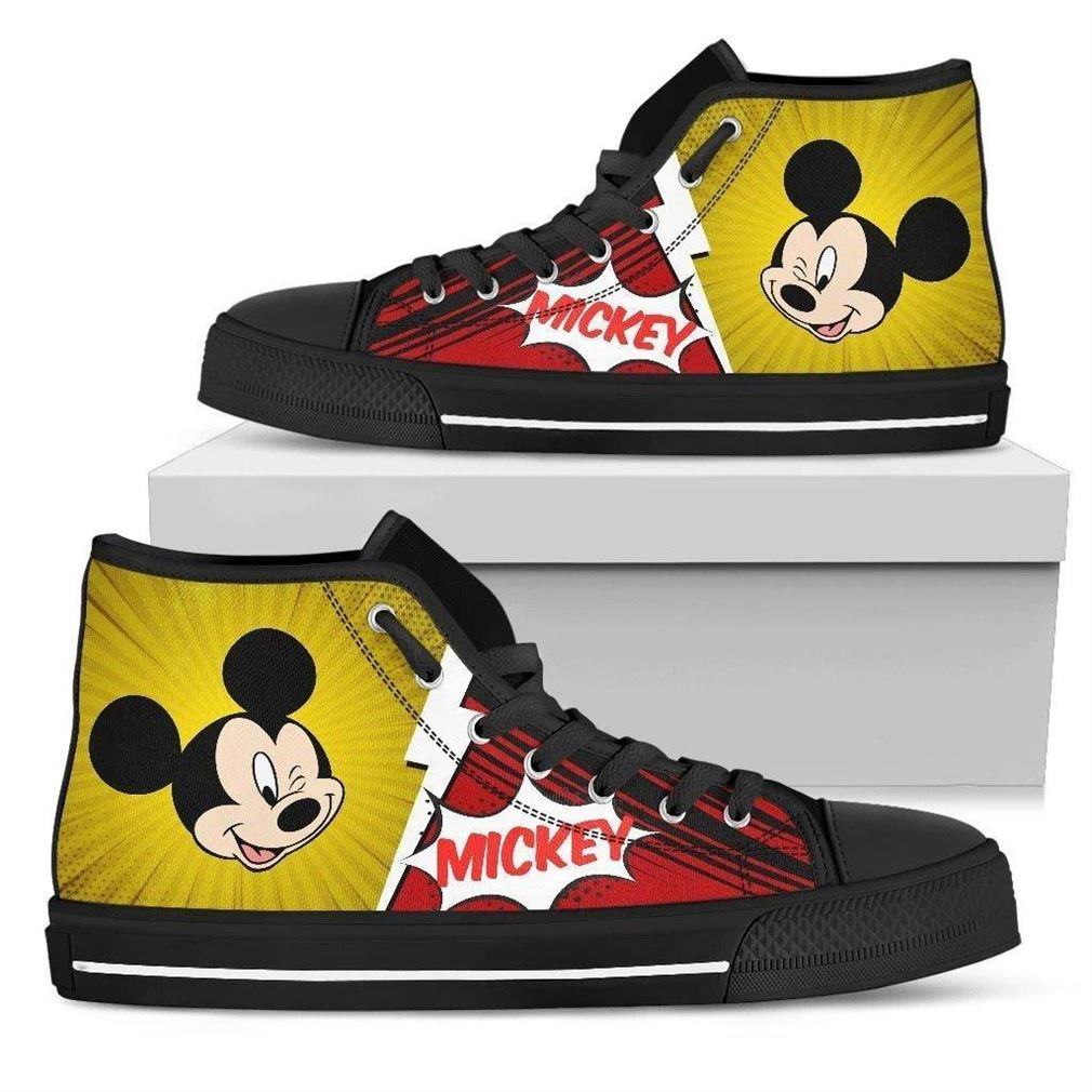 Mickey Character High Top Vans Shoes