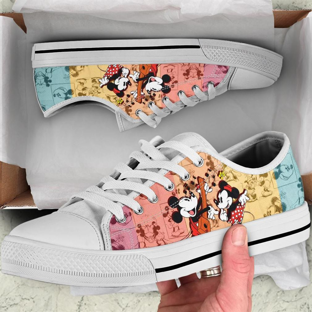 Mickey Mouse Character Low Top Vans Shoes