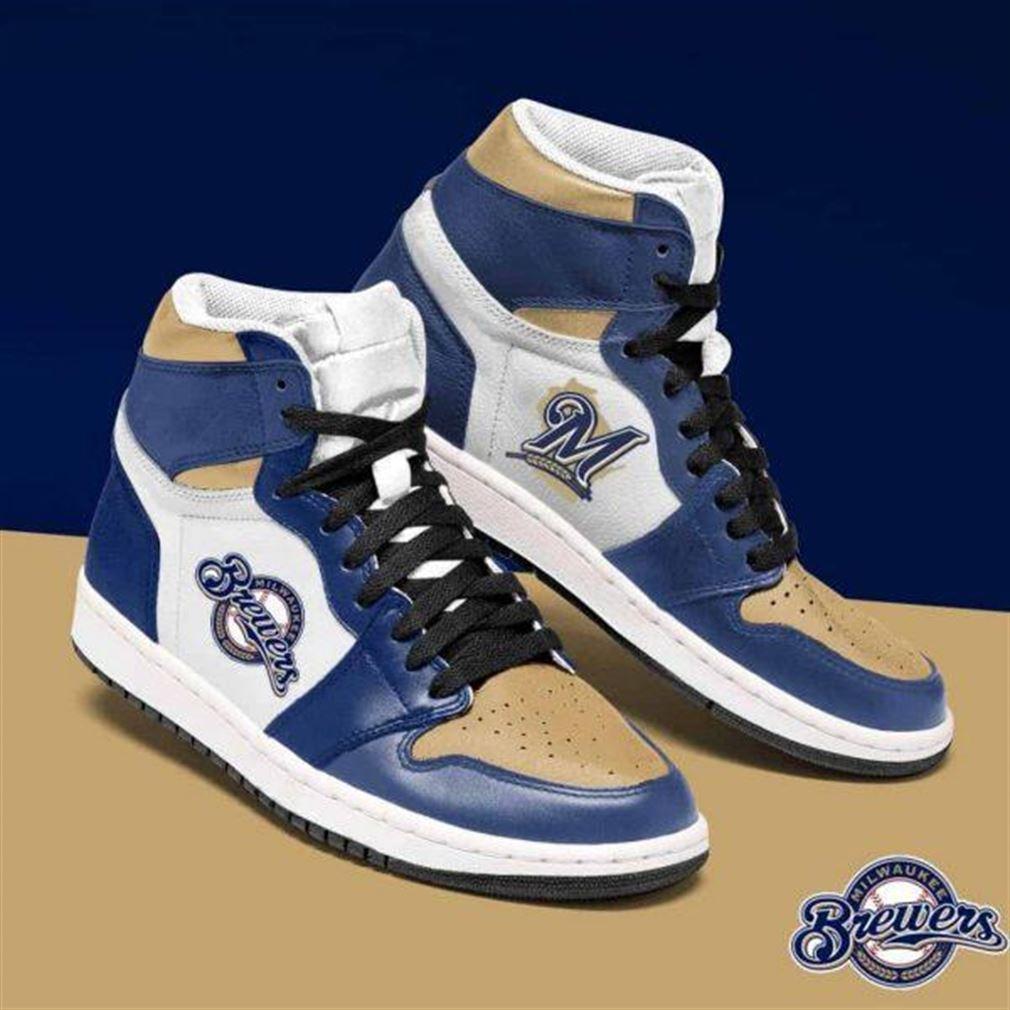 Milwaukee Brewers Mlb Baseball Air Jordan Sneaker Boots Shoes