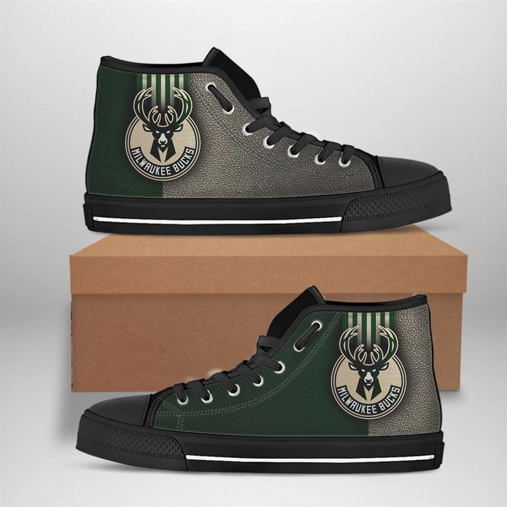 Milwaukee Bucks Nba Basketball High Top Vans Shoes