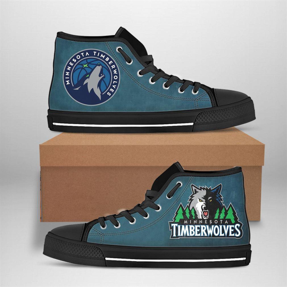 Minnesota Timberwolves Nba Basketball High Top Vans Shoes