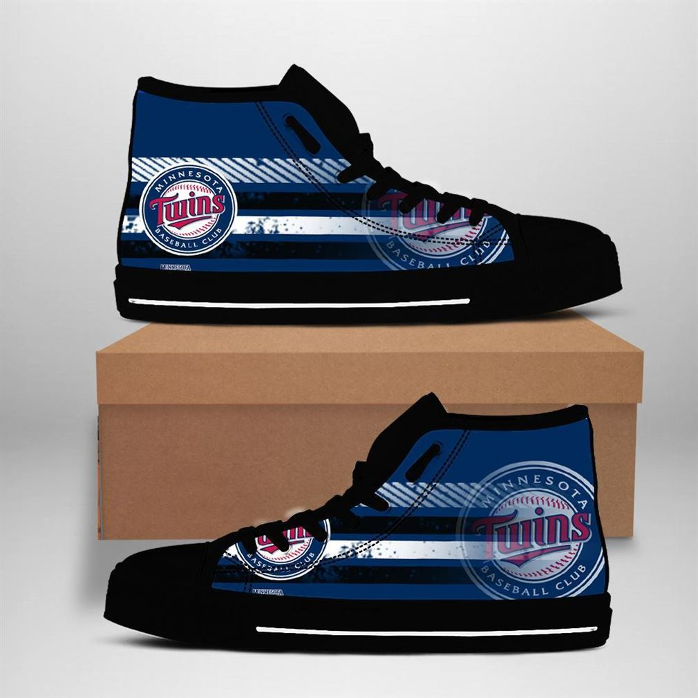 Minnesota Twins Mlb Baseball High Top Vans Shoes
