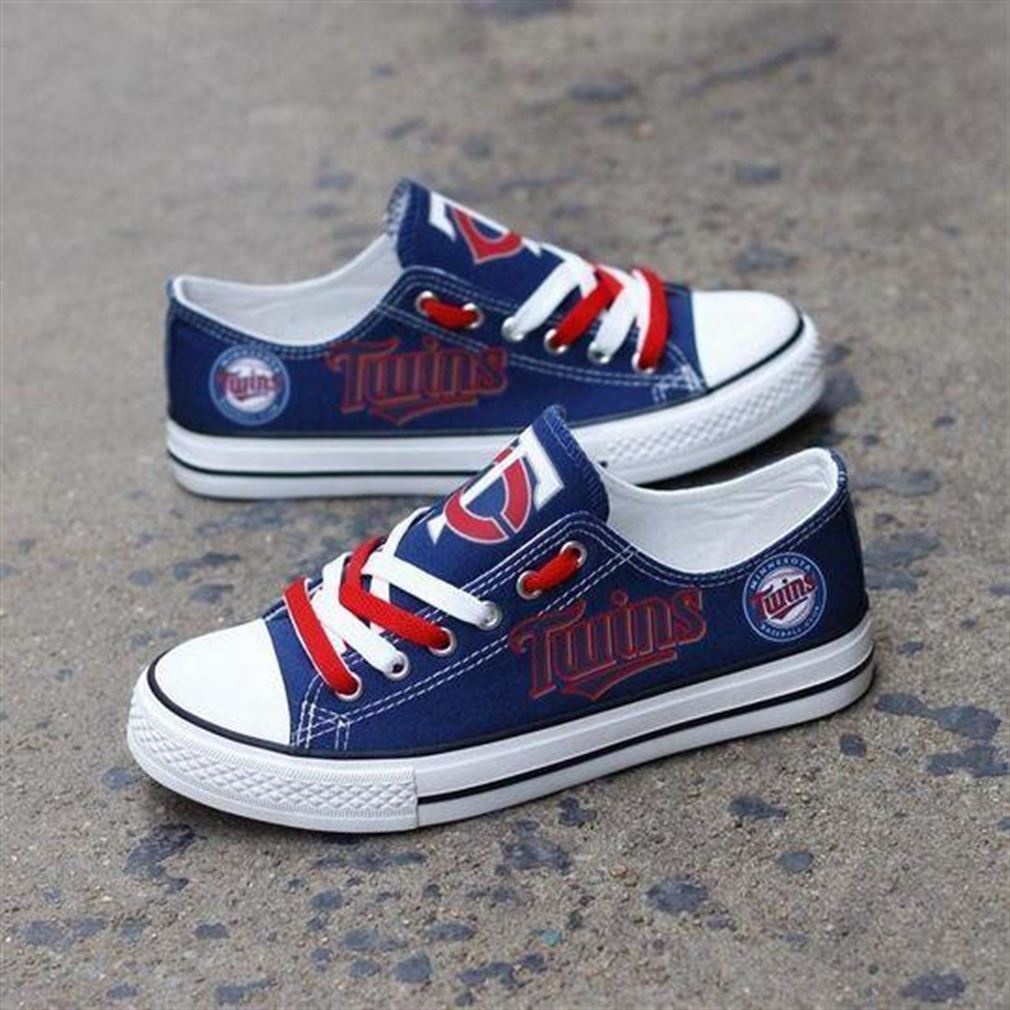 Minnesota Twins Mlb Baseball Low Top Vans Shoes