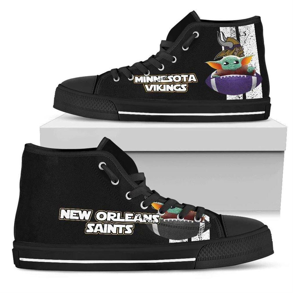 Minnesota Vikings High Top Vans Shoes