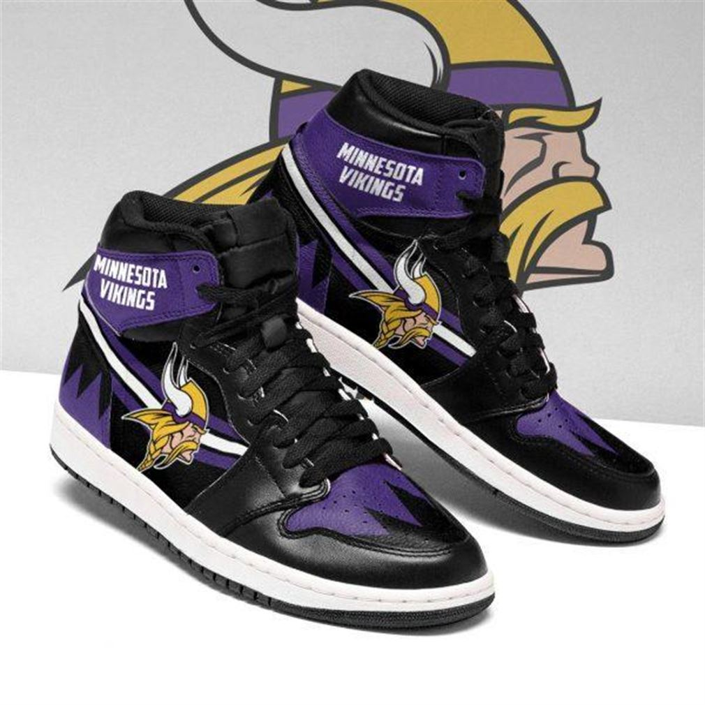 Minnesota Vikings Nfl Football Air Jordan Sneaker Boots Shoes