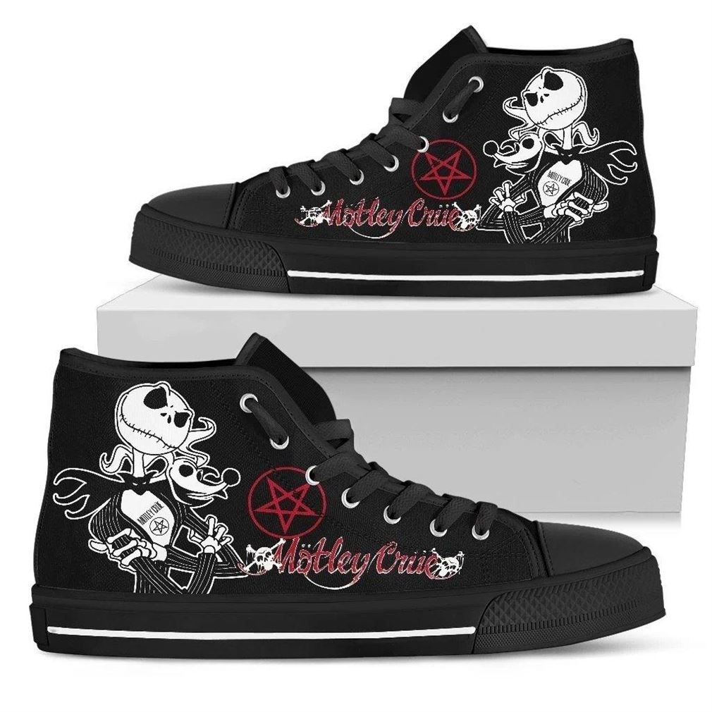 Motley Crue High Top Vans Shoes