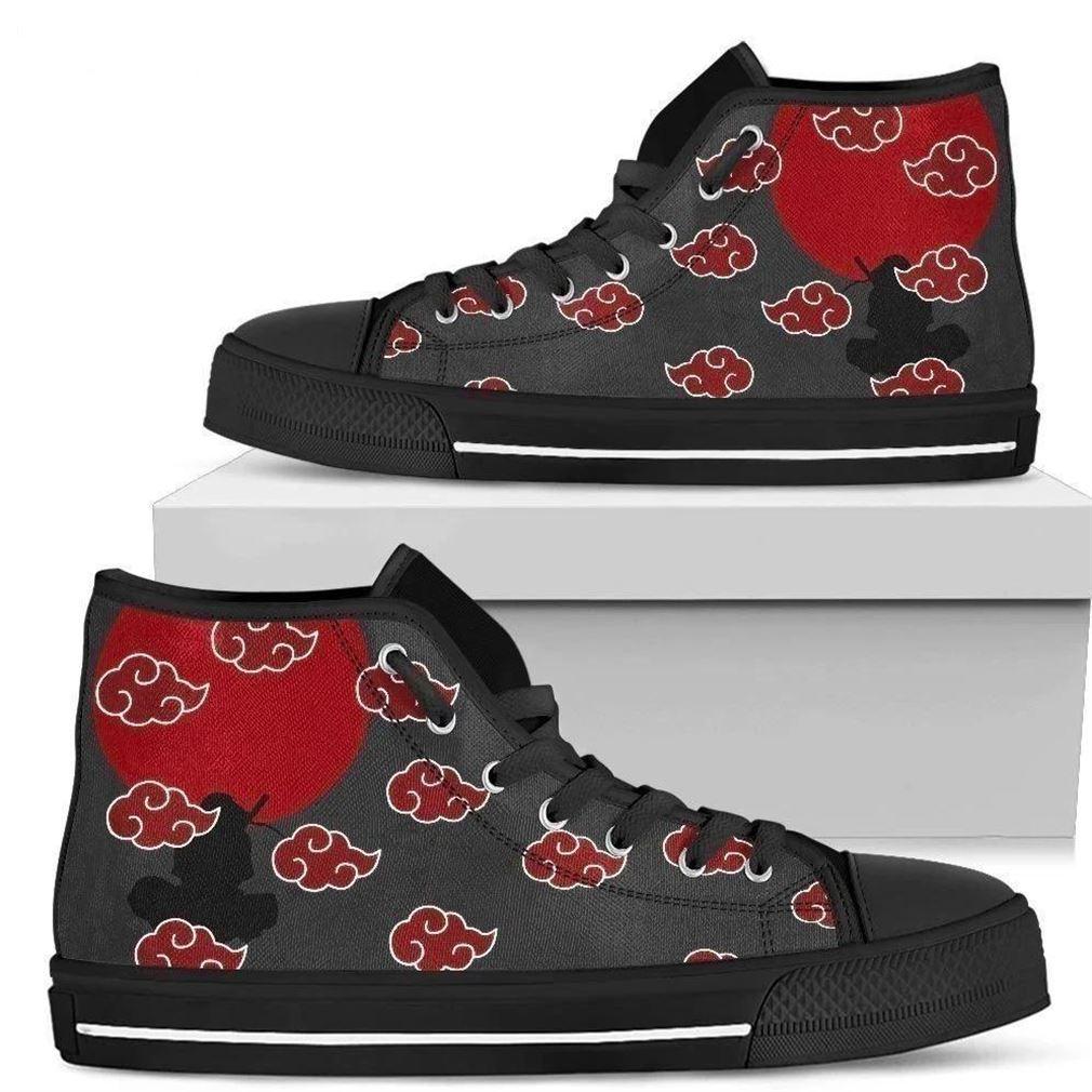 Naruto Akatsuki Symbol High Top Vans Shoes