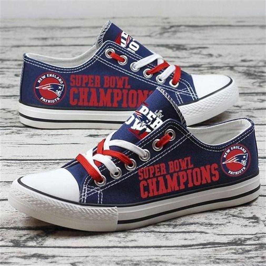 New England Patriots Nfl Football Low Top Vans Shoes