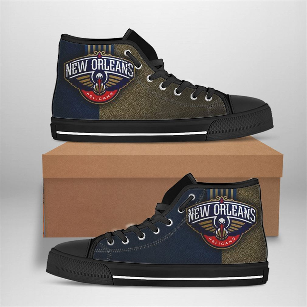 New Orleans Pelicans Nba Basketball High Top Vans Shoes