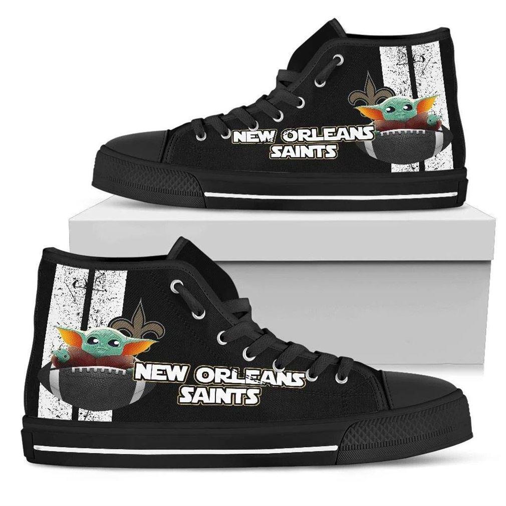 New Orleans Saints Nfl Football High Top Vans Shoes