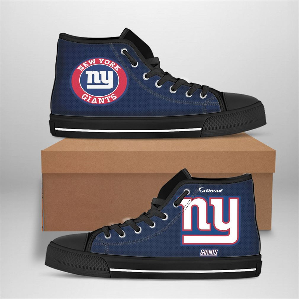 New York Giants Nfl Football High Top Vans Shoes