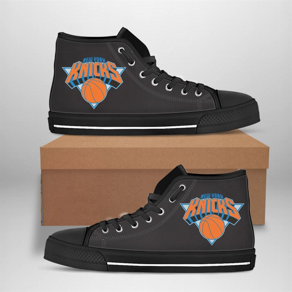 New York Knicks Nba Basketball High Top Vans Shoes