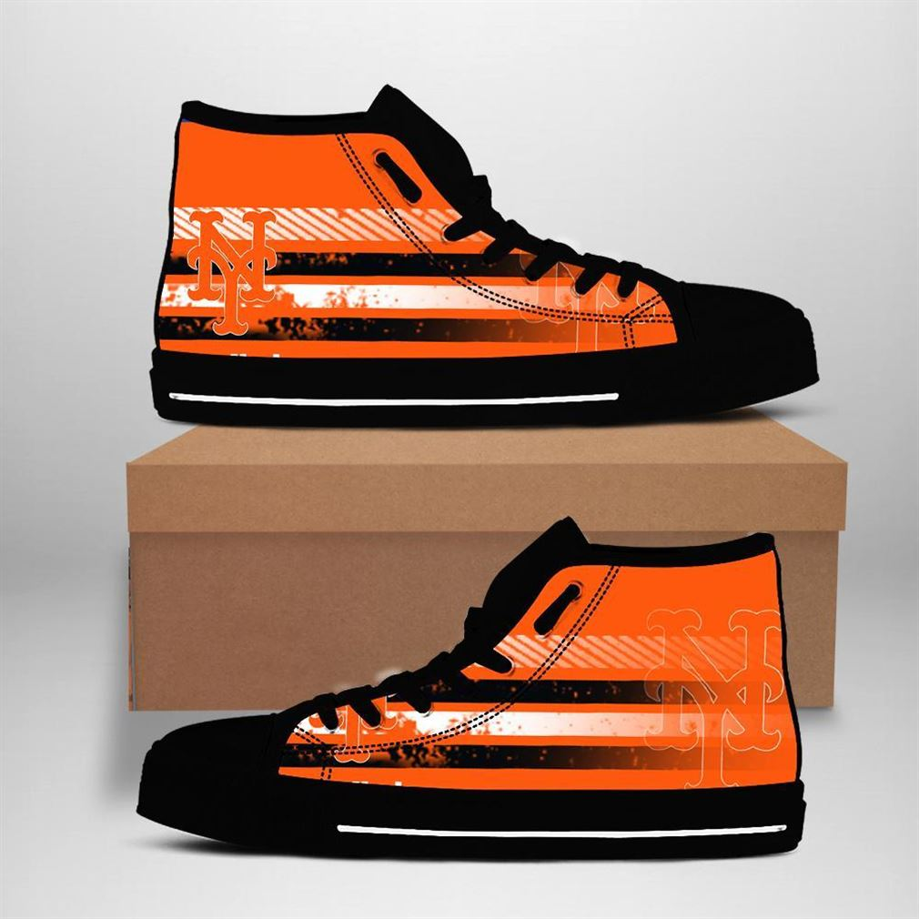 New York Mets Mlb Baseball High Top Vans Shoes
