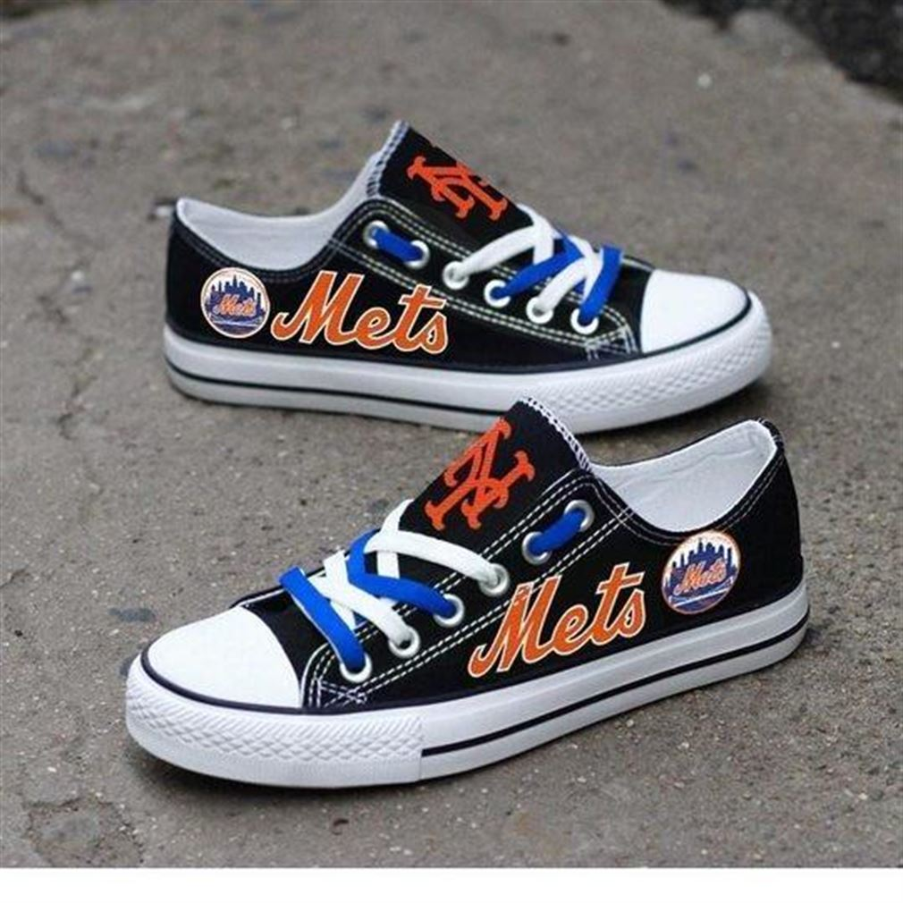 New York Mets Mlb Baseball Low Top Vans Shoes
