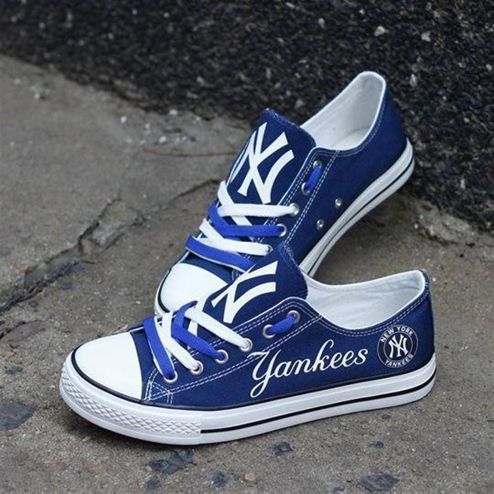 New York Yankees Mlb Baseball Low Top Vans Shoes