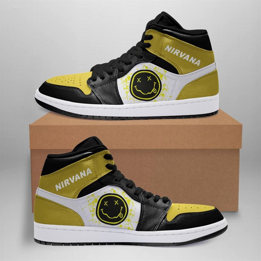 Nirvana Rock Band Air Jordan Sneaker Boots Shoes
