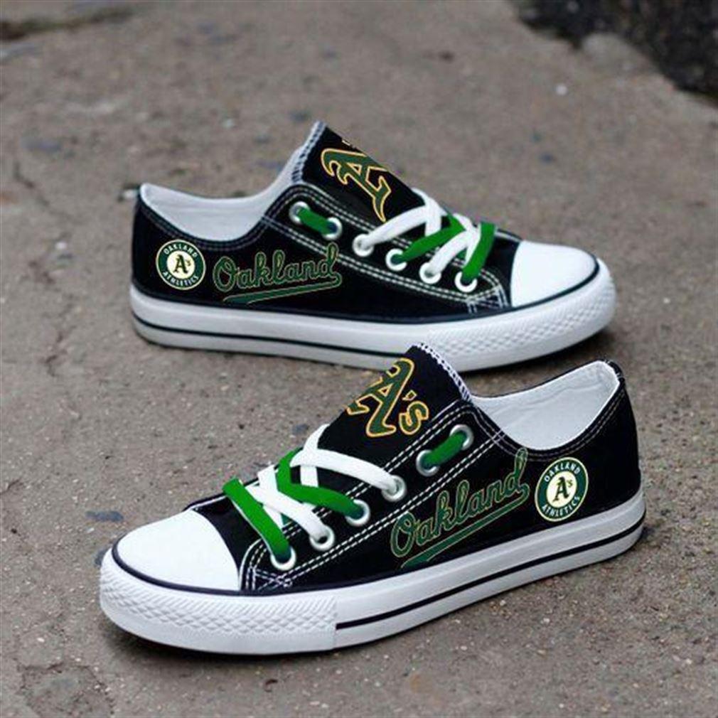 Oakland Athletics Mlb Baseball Low Top Vans Shoes