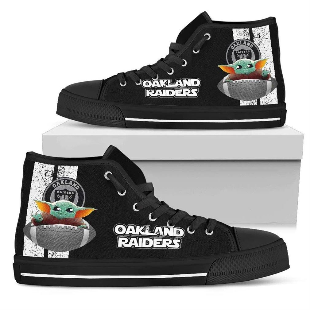Oakland Raiders High Top Vans Shoes