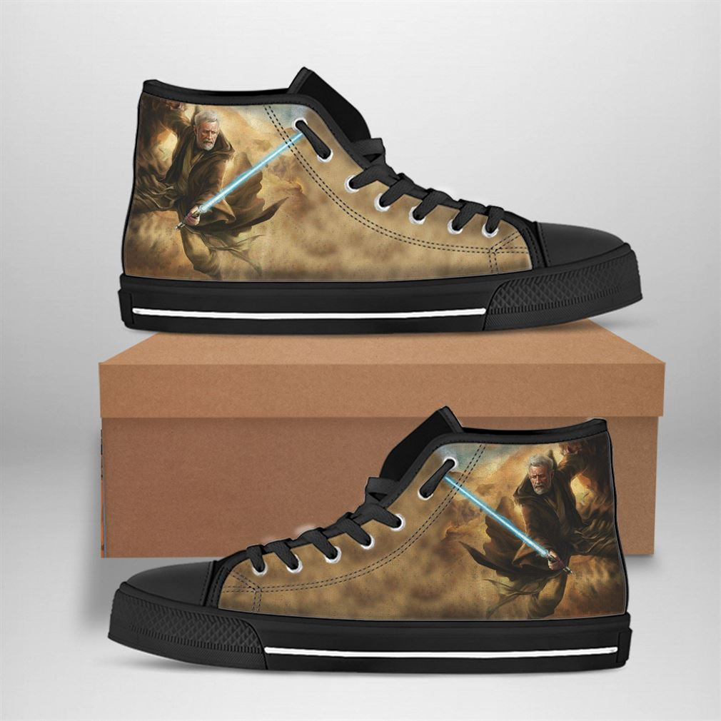 Obi-wan Kenobi Best Movie Character High Top Vans Shoes