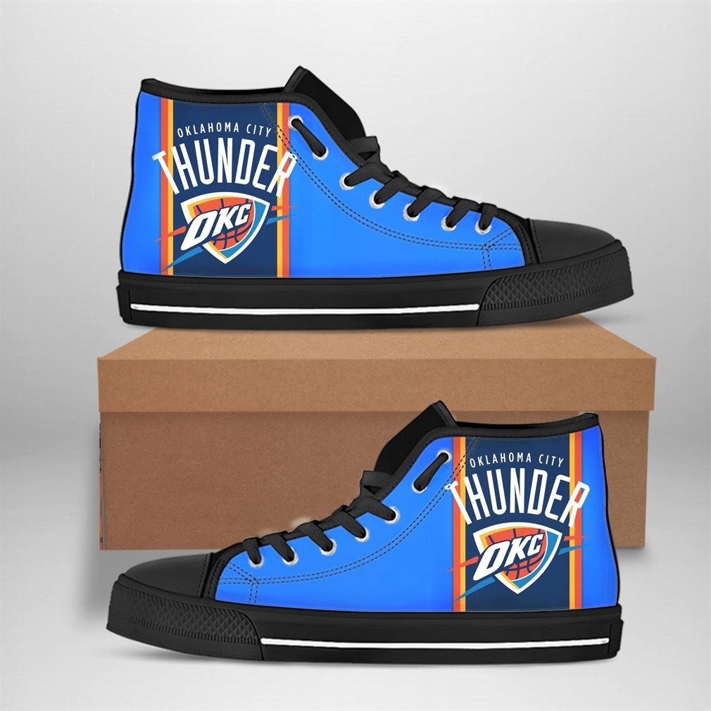 Oklahoma City Thunder Nba Basketball High Top Vans Shoes